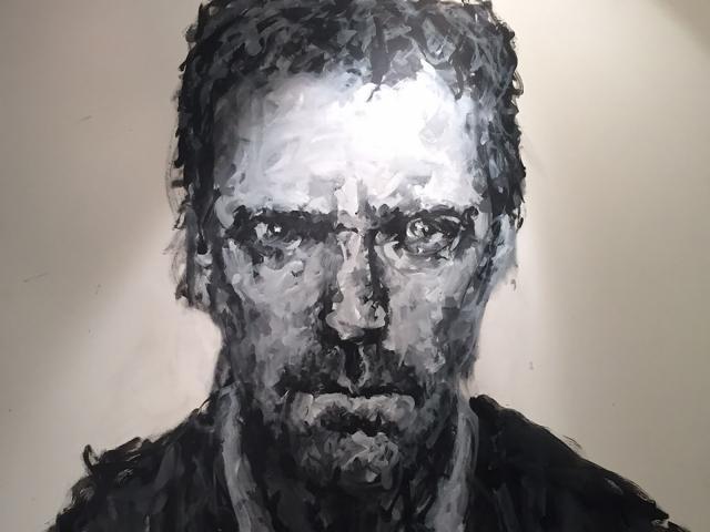 Hugh Laurie 10100x100 cm, acrylique sur toile